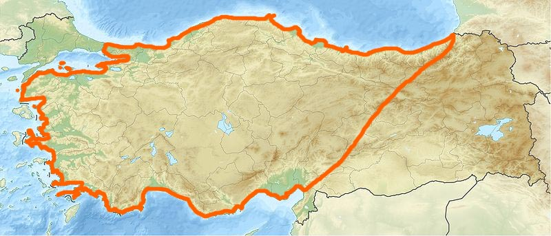 Illustration: la Turquie et les limites de l'Anatolie (2)